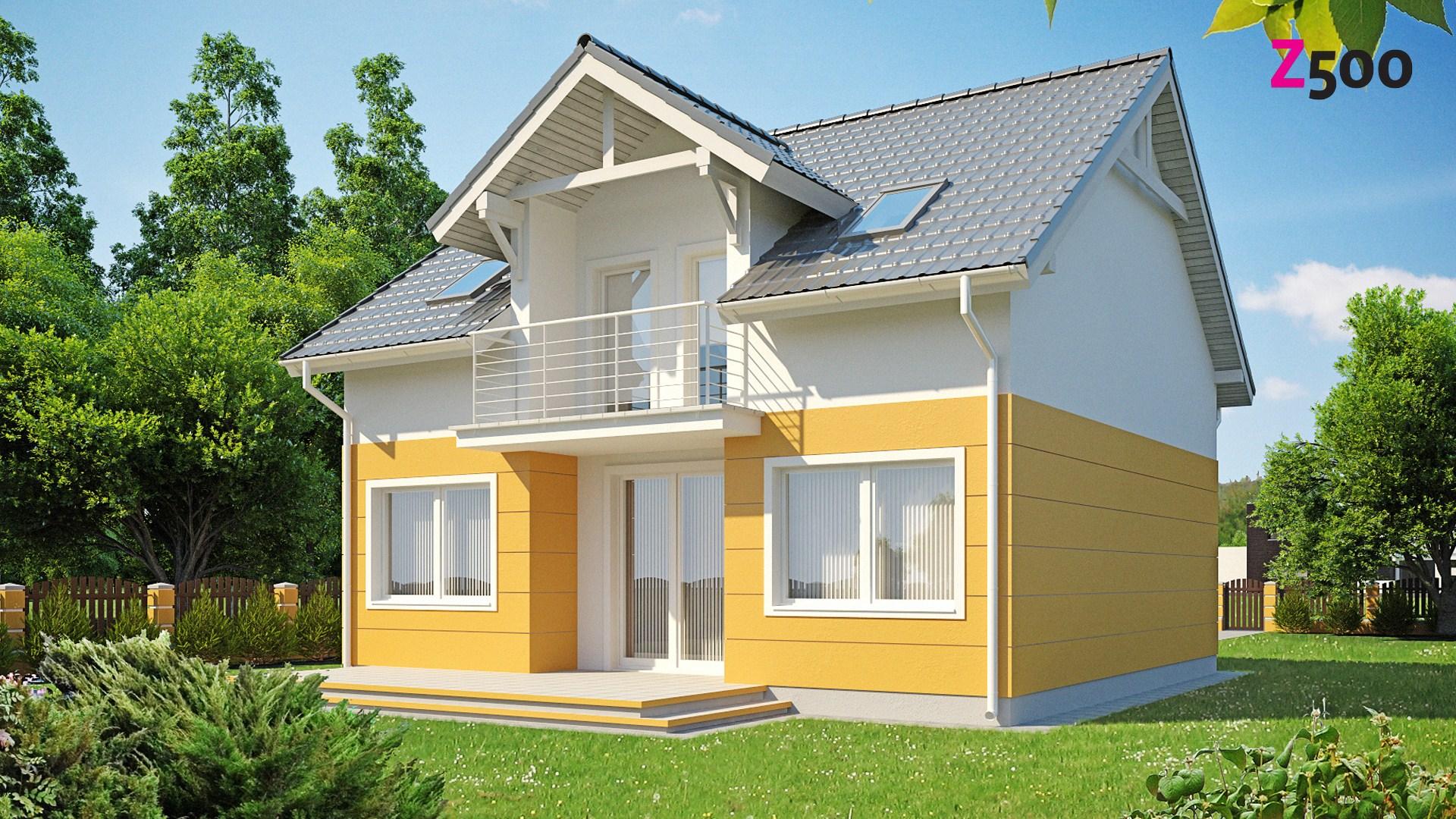 """Проект дома с мансардной двускатной крышей """"лудлоу z65"""" в са."""