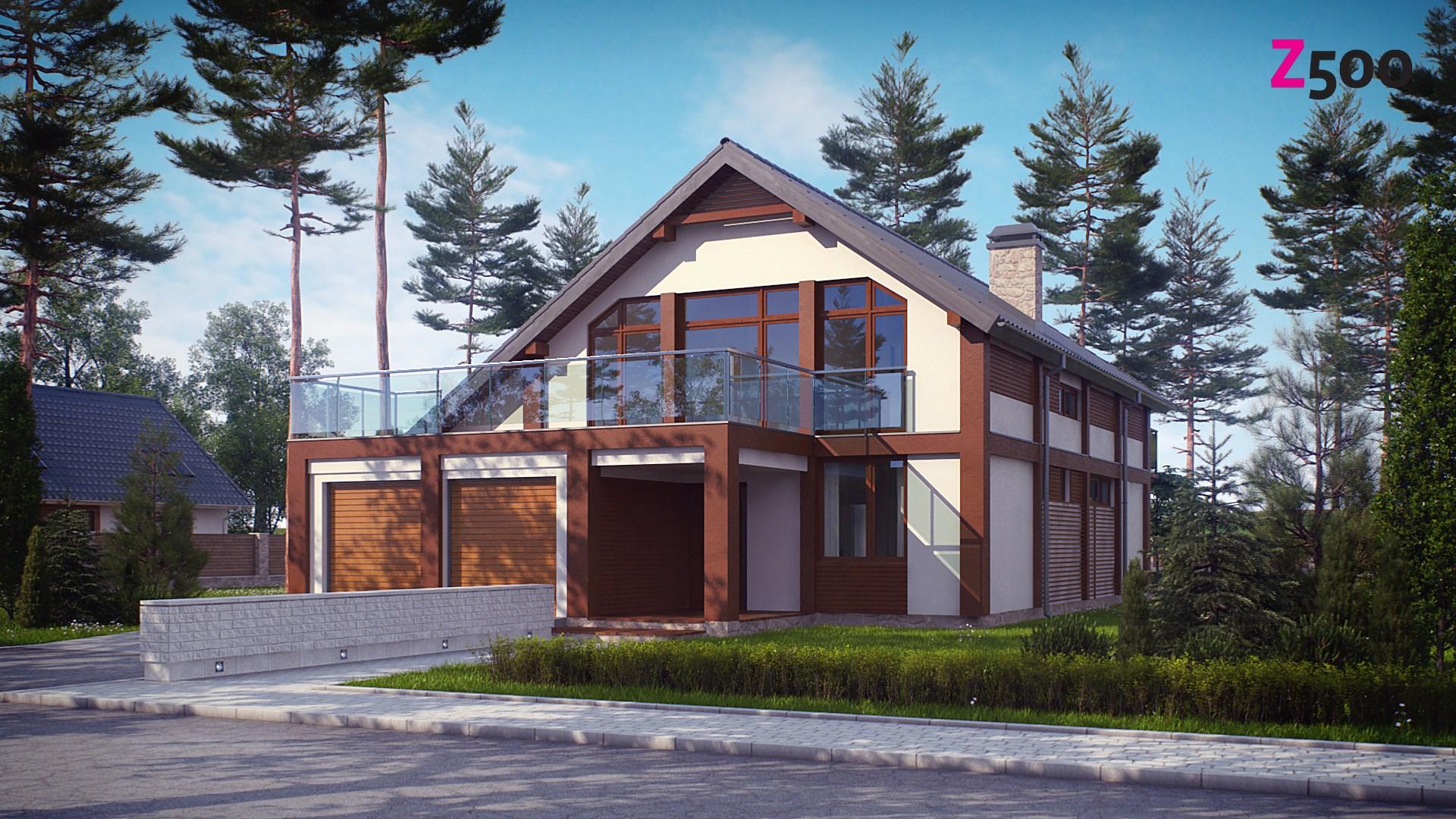 Просторный современный дом элегантного дизайна с террасой на.