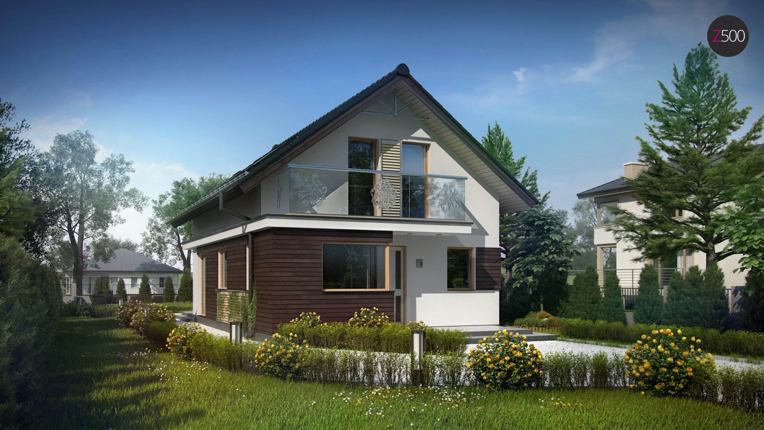 Z296 функциональный аккуратный дом с мансардой, также для уз.