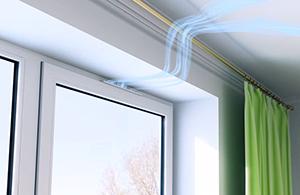 Пристрій природної вентиляції
