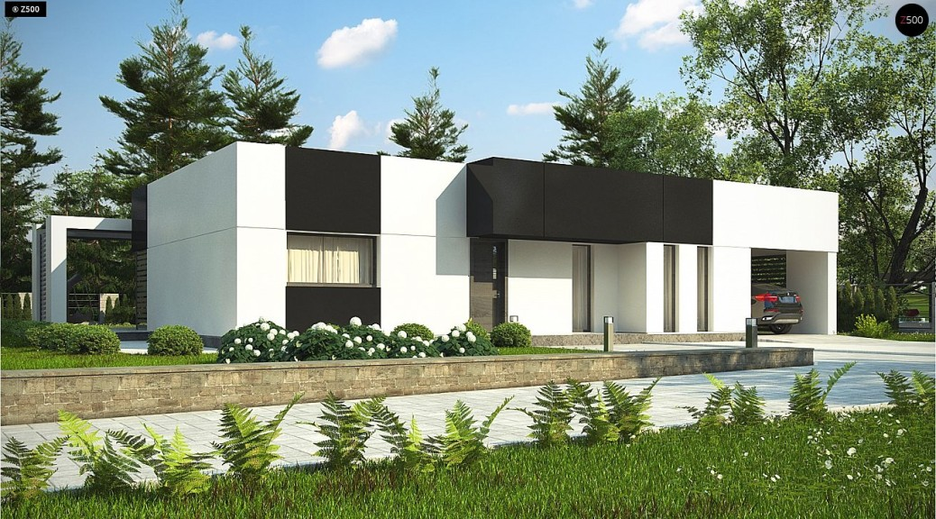 Проект одноэтажного дома Zx150