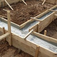 Мелкозаглубленный ленточный фундамент дома